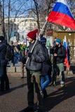 Procesión de la oposición en memoria del político Boris Nemts Imagen de archivo libre de regalías