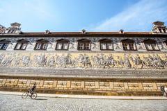 Procesión de la pared de los príncipes en Dresden Imagen de archivo libre de regalías