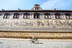 Procesión de la pared de los príncipes en Dresden Imagenes de archivo