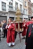 Procesión de la sangre santa, Brujas, Bélgica imagen de archivo libre de regalías