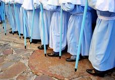 Procesión de la Virgen de la montaña, banquete de la patrona, Caceres, Extremadura, España Imagen de archivo libre de regalías