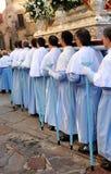 Procesión de la Virgen de la montaña, banquete de la patrona, Caceres, Extremadura, España Fotografía de archivo libre de regalías