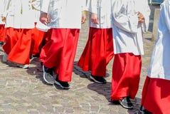 Procesión de las reliquias en Seligenstadt, Alemania Foto de archivo