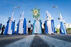 Procesión de Nazarenes Foto de archivo