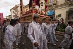 Procesión de Pascua en Ecuador Fotos de archivo