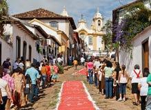 Procesión del este Tiradentes el Brasil Imagen de archivo libre de regalías
