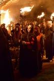 Procesión del festival del fuego de Beltane Fotografía de archivo
