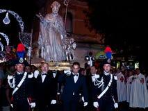 Procesión del S. Oronzo Imagen de archivo libre de regalías