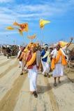 Procesión en Kumbh Mela fotografía de archivo libre de regalías