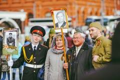 Procesión en Victory Day, Moscú, Rusia Fotos de archivo libres de regalías