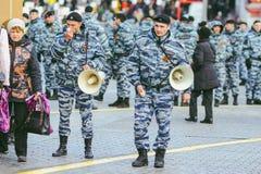 Procesión en Victory Day, Moscú, Rusia Imágenes de archivo libres de regalías