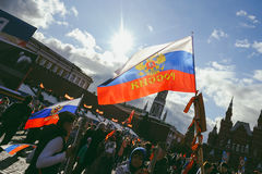 Procesión en Victory Day, Moscú, Rusia Imagenes de archivo
