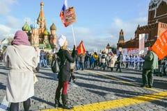 Procesión en Victory Day, Moscú, Rusia Fotografía de archivo