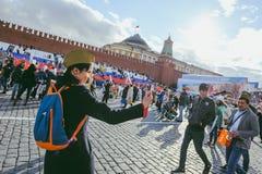 Procesión en Victory Day, Moscú, Rusia Fotos de archivo