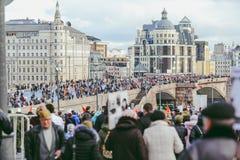 Procesión en Victory Day, Moscú, Rusia Fotografía de archivo libre de regalías