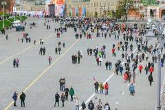 Procesión en Victory Day, Moscú, Rusia Foto de archivo libre de regalías