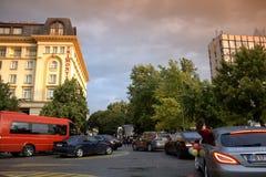 Procesión lujosa de los coches, Plovdiv Bulgaria Imagen de archivo libre de regalías