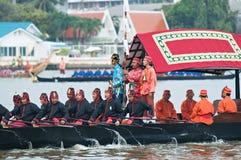 Procesión real de la lancha a remolque, Bangkok 2012 Fotos de archivo libres de regalías