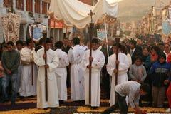 Procesión religiosa fotos de archivo