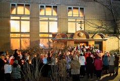 Procesión religiosa de la noche para Pascua. Foto de archivo libre de regalías
