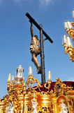 Procesión religiosa en Triana, semana santa en Sevilla, Andalucía, España Fotos de archivo libres de regalías