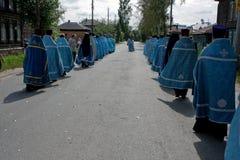 Procesión religiosa ortodoxa Foto de archivo libre de regalías
