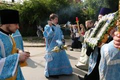 Procesión religiosa ortodoxa Fotografía de archivo libre de regalías