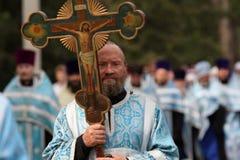 Procesión religiosa ortodoxa Imágenes de archivo libres de regalías
