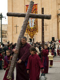 Procesión del Viernes Santo Imágenes de archivo libres de regalías