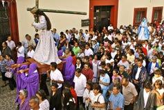 Procesión del Viernes Santo, Oaxaca, México Fotografía de archivo
