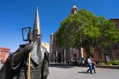Procesion del Silencio雕象在圣路易斯波托西州墨西哥 免版税库存图片