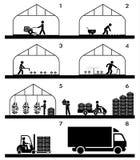 Proceso agrícola en invernadero ilustración del vector