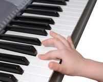 Proceso de aprendizaje (piano) Fotografía de archivo