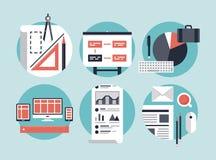 Proceso de desarrollo de negocios moderno libre illustration
