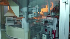 Proceso de fabricación de Crystal Sugar almacen de metraje de vídeo