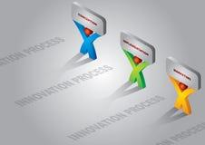 Proceso de innovación ilustración del vector