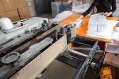 Proceso de la diversa fabricación de papel de los productos Imagenes de archivo