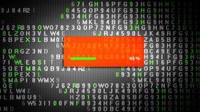 Proceso de la encripción de datos en la pantalla de la tableta stock de ilustración