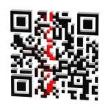 Proceso de la exploración del código de QR aislado Imagen de archivo libre de regalías