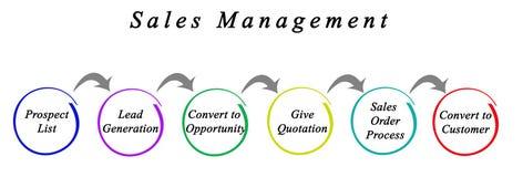 Proceso de la gestión de ventas stock de ilustración