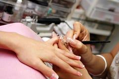 Proceso de la manicura Fotografía de archivo libre de regalías
