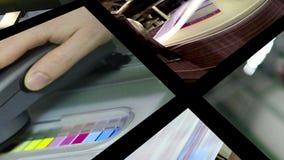 Proceso de la producción de impresión almacen de metraje de vídeo