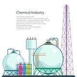 Proceso de la refinería de los recursos naturales aislados Imagen de archivo libre de regalías