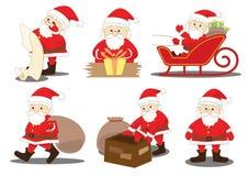 Proceso de las actividades y de los deberes del trabajo de Papá Noel Imágenes de archivo libres de regalías