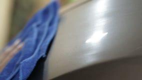 Proceso de lavado del coche Serie de detalle almacen de video
