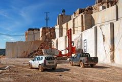 Proceso de mármol de la mina Fotos de archivo