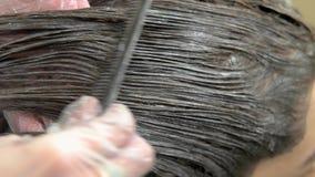 Proceso de muerte del pelo, macro almacen de video