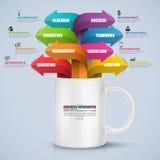 Proceso de negocio digital abstracto 3D Infographic Imagenes de archivo