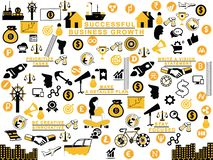 Proceso de negocio y mixup de los pasos stock de ilustración