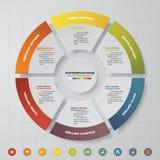 proceso de 6 pasos Elemento del diseño del extracto de Simple&Editable Vector stock de ilustración